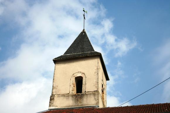 Le clocher de l'Eglise Saint Médard